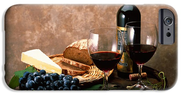 Artistic Photography iPhone Cases - Still Life Of Wine Bottle, Wine iPhone Case by Panoramic Images
