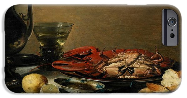Table Wine iPhone Cases - Still Life iPhone Case by Pieter Claesz