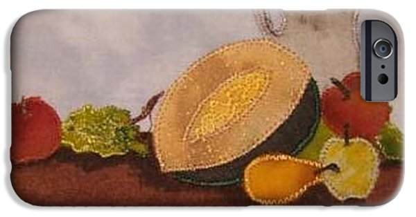 Still Life Tapestries - Textiles iPhone Cases - Still Life Postcard iPhone Case by Jenny Williams