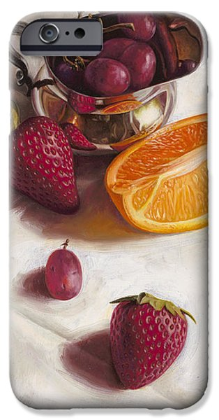 Fruit iPhone Cases - Still LIfe Reflections iPhone Case by Ron Crabb