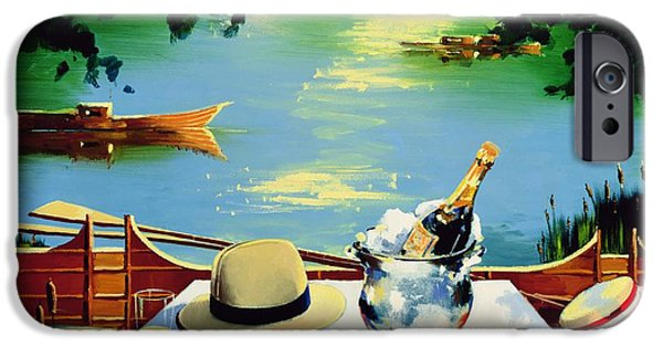 Punting iPhone Cases - Still Life Regatta iPhone Case by Andrew Hewkin