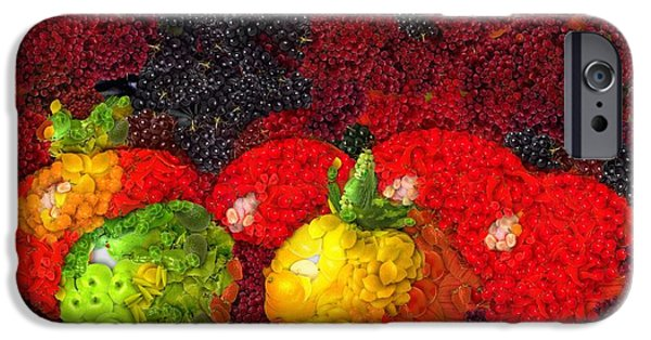 Berry Mixed Media iPhone Cases - Still Life Tomatoes Fruits And Vegetables iPhone Case by Dan Sproul