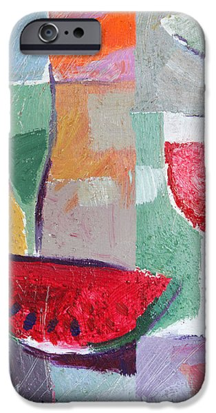 Table Wine iPhone Cases - Still Life Vintage iPhone Case by Lutz Baar