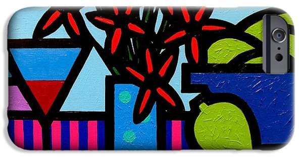 Canvas Wine Prints iPhone Cases - Still Life With 9 Limes iPhone Case by John  Nolan