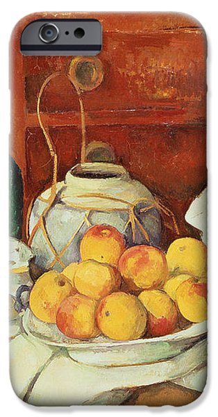 Still Life with a Chest of Drawers iPhone Case by Paul Cezanne