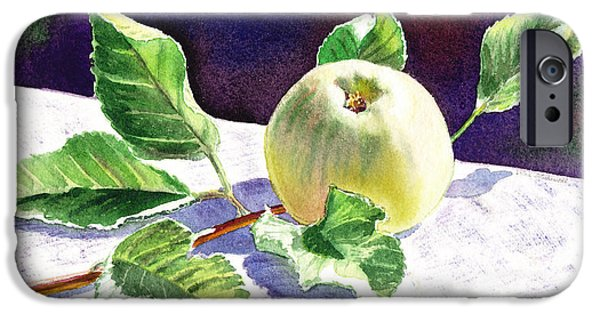 Crops iPhone Cases - Still Life With Apple iPhone Case by Irina Sztukowski