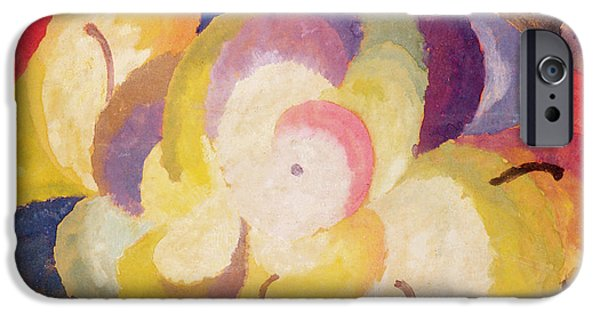 Abstract Forms iPhone Cases - Still Life with Apples iPhone Case by Alexander Bogomazov