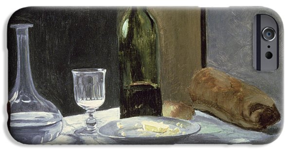 Booze iPhone Cases - Still Life with Bottles iPhone Case by Claude Monet