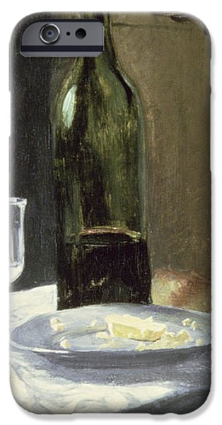 Still Life with Bottles iPhone Case by Claude Monet