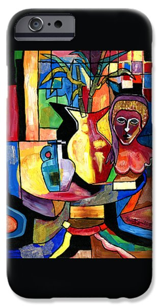 Jacob Lawrence iPhone Cases - Still Life with Female Bust  iPhone Case by Everett Spruill