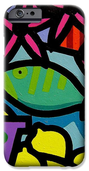 Still Life With fish iPhone Case by John  Nolan