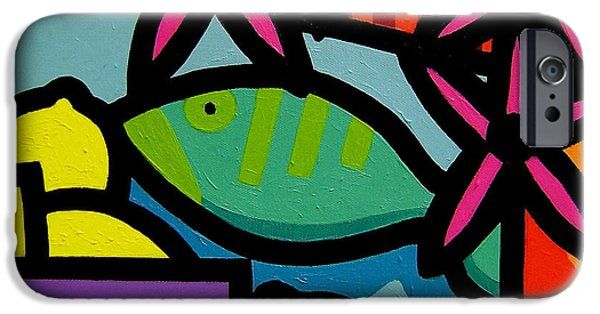 Decorative Art iPhone Cases - Still Life With fish iPhone Case by John  Nolan