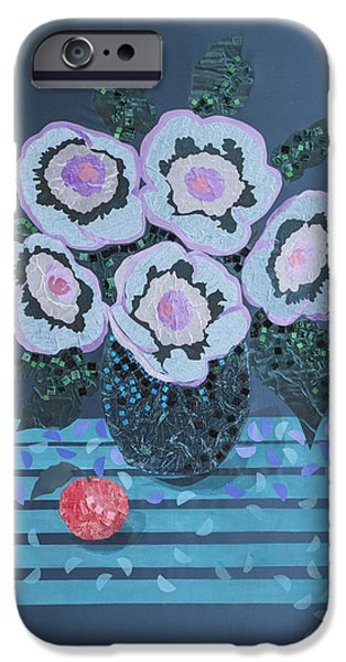 Still Life Tapestries - Textiles iPhone Cases - Still Life with Flowers iPhone Case by Tanya Mayer