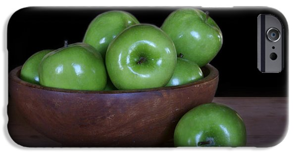 Interior Still Life iPhone Cases - Still Life with Green Apples iPhone Case by Nikolyn McDonald