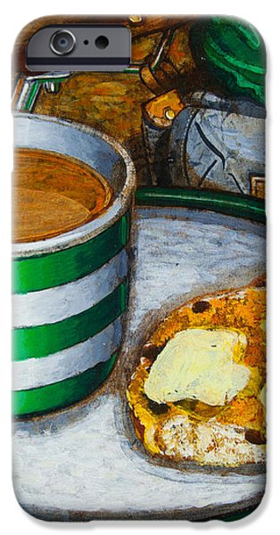 Still life with green touring bike iPhone Case by Mark Howard Jones
