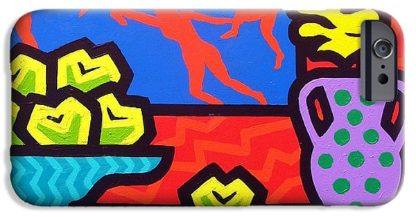 Cushion iPhone Cases - Still Life With Matisse iPhone Case by John  Nolan