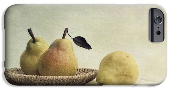 Pear iPhone Cases - Still Life With Pears iPhone Case by Priska Wettstein