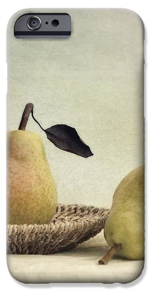 still life with pears iPhone Case by Priska Wettstein