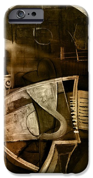 Analytic iPhone Cases - Still life with piano and bust iPhone Case by Kim Gauge