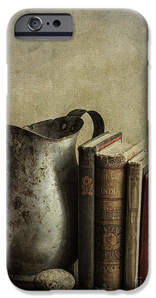 Pages Of Life iPhone Cases - Still Life with Pitcher iPhone Case by Terry Rowe