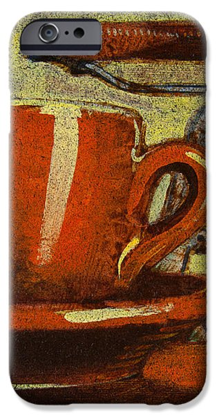 Still life with racing bike iPhone Case by Mark Howard Jones