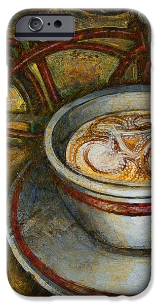 Still life with red cruiser bike iPhone Case by Mark Howard Jones