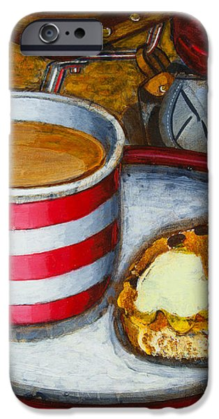 Still life with red touring bike iPhone Case by Mark Howard Jones