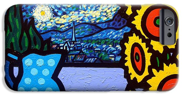 Jugs iPhone Cases - Still Life With Starry Night iPhone Case by John  Nolan