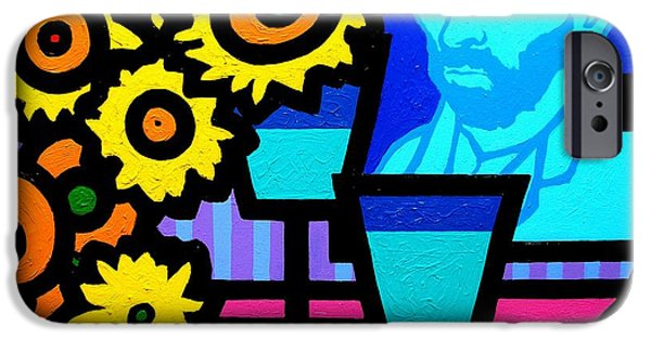 Canvas Wine Prints iPhone Cases - Still Life With Vincent iPhone Case by John  Nolan