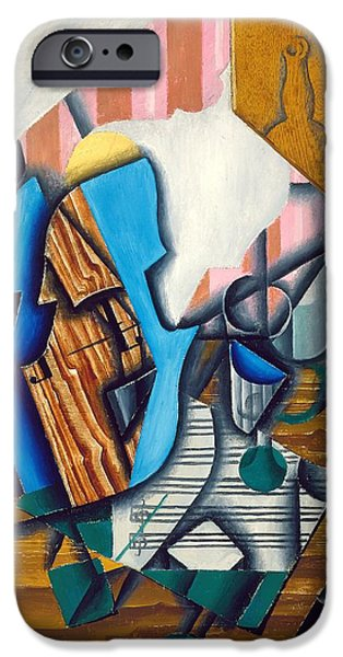 Sheets iPhone Cases - Still Life With Violin And Music Sheet, 1914 Oil On Paper Colle On Canvas iPhone Case by Juan Gris