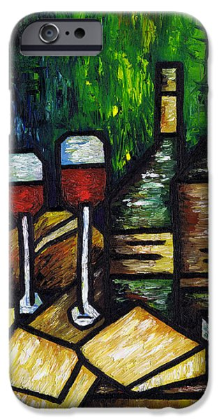 Still Life With Wine and Cheese iPhone Case by Kamil Swiatek