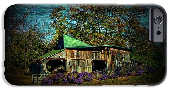 Old Barn iPhone Cases - Still Picturesque iPhone Case by Julie Dant