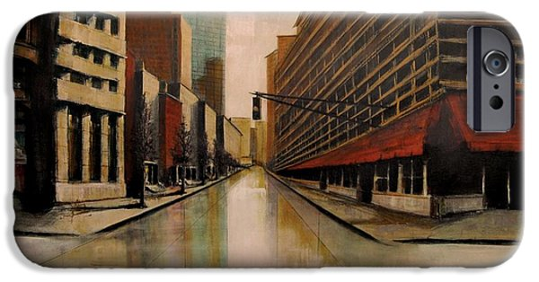 Buildings Mixed Media iPhone Cases - Still Under Construction  TWELVE iPhone Case by Diane Strain