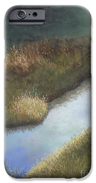 Creek Pastels iPhone Cases - Still Water iPhone Case by Ginny Neece