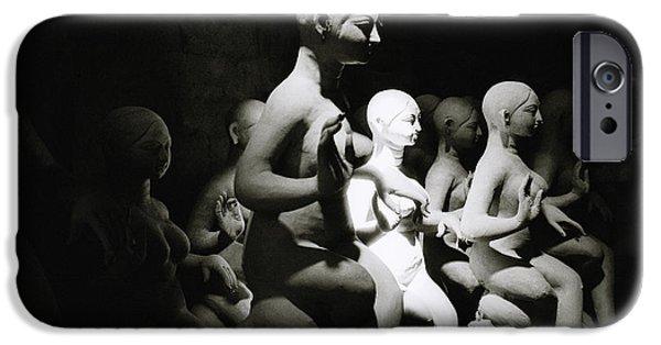 Hindu Goddess iPhone Cases - Stillness In India iPhone Case by Shaun Higson