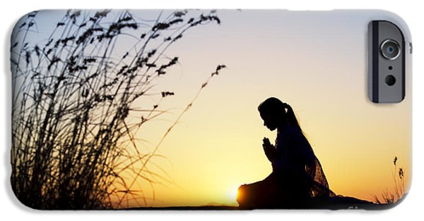 Innocence Photographs iPhone Cases - Stillness of Prayer iPhone Case by Tim Gainey