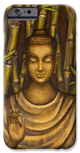 Tibetan Buddhism iPhone Cases - Stillness speaks iPhone Case by Yuliya Glavnaya