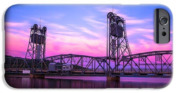 Rivers iPhone Cases - Stillwater Lift Bridge iPhone Case by Adam Mateo Fierro