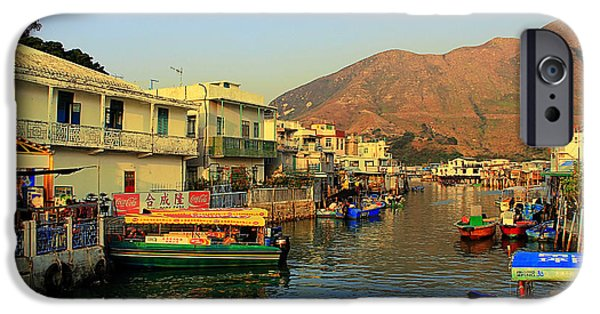 Painter Photographs iPhone Cases - Tai O Stilt Houses iPhone Case by Janet Pancho Gupta