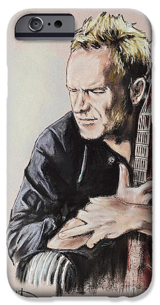 Bassist iPhone Cases - Sting iPhone Case by Melanie D