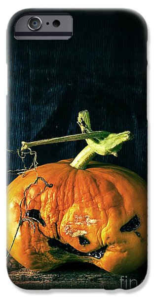 Ghoul iPhone Cases - Stingy Jack - Scary Halloween Pumpkin iPhone Case by Edward Fielding