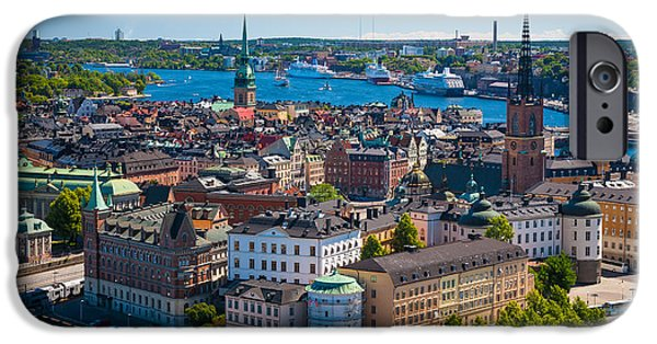 Architectural iPhone Cases - Stockholm from Above iPhone Case by Inge Johnsson
