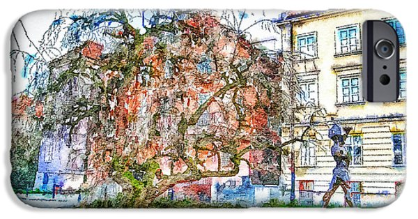 Urban Nature Study iPhone Cases - Stockholm Galma Stan Old Town iPhone Case by Yury Malkov