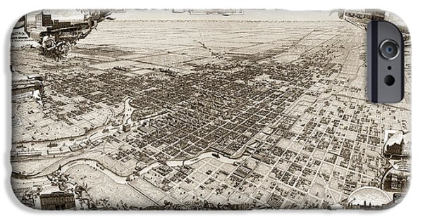 John Stockton iPhone Cases - Stockton San Joaquin County California  1895 iPhone Case by California Views Mr Pat Hathaway Archives