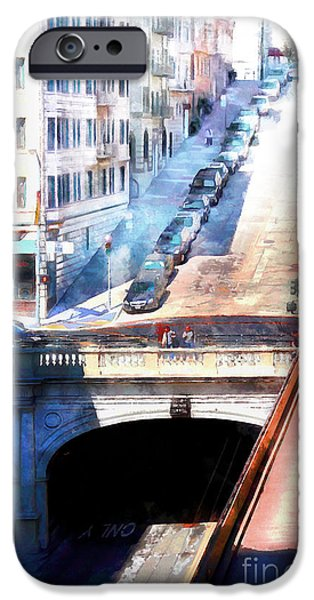 Stockton iPhone Cases - Stockton Street Tunnel San Francisco 7d7499wcstyle iPhone Case by Wingsdomain Art and Photography