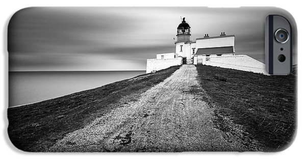 Headland iPhone Cases - Stoer Head Lighthouse iPhone Case by Dave Bowman