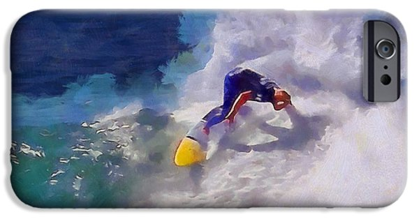 Adrenaline iPhone Cases - Stoked Surfer iPhone Case by Dan Sproul