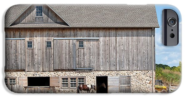 Animals Photographs iPhone Cases - Stone and Wood Barn iPhone Case by Lula Adams
