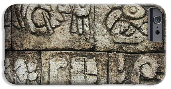Sign iPhone Cases - Stone Art  iPhone Case by Chrisann Ellis