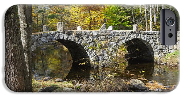 Old North Bridge iPhone Cases - Stone Bridge - Hillsborough New Hampshire USA iPhone Case by Erin Paul Donovan